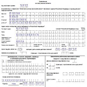 Заполнение для ИП заявления на получение патента – форма 26.5-1